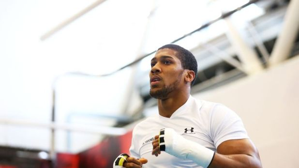 Anthony Joshua is training for world title defence against Alexander Povetkin