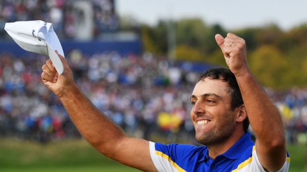 Molinari won all five of his matches at the Ryder Cup and secured the winning point for Europe