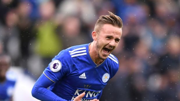 James Maddison is Leicester's joint top scorer with three goals