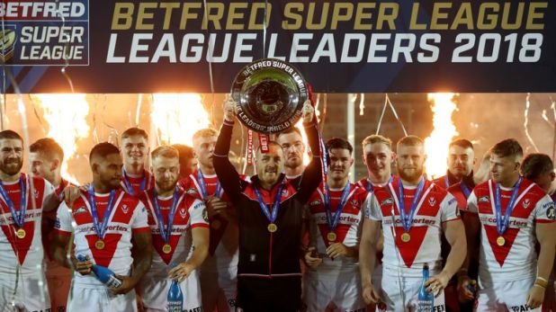 St Helens lifted the League Leaders' shield