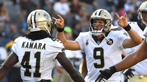 Drew Brees and Alvin Kamara make up two thirds of a deadly trio in New Orleans