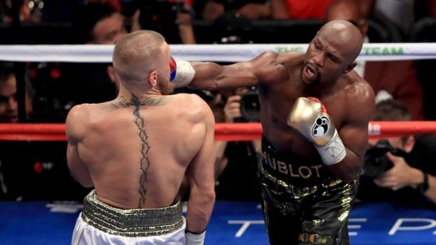 Mayweather beat Conor McGregor via a 10th-round knockout