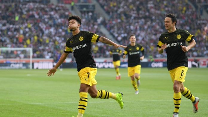 Sancho has been a star in the Bundesliga since leaving City
