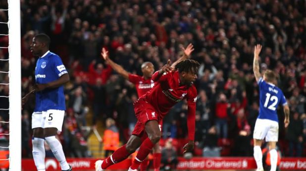 Origi scored the winner in the Merseyside derby earlier this season