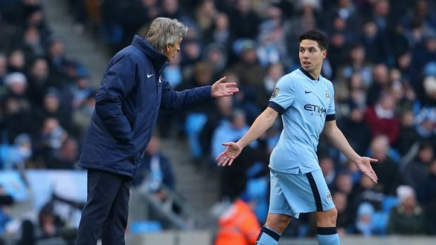 Nasri won the Premier League and League Cup under  under Manuel Pellegrini at Manchester City