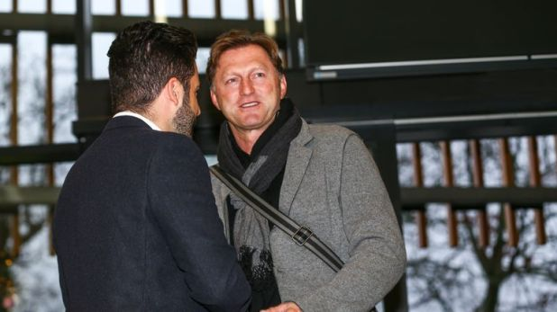 New Southampton manager Ralph Hasenhuttl arrives at the club's Staplewood Campus