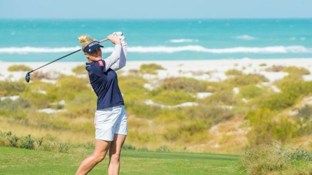 Charley Hull holds a one-shot lead going into the final round