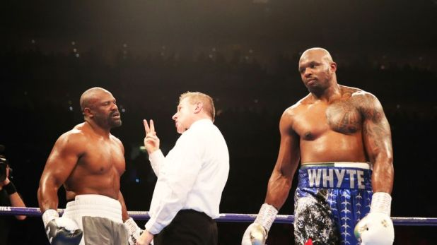 Chisora was docked two points by referee Marcus McDonnell