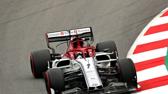 Kimi Raikkonen was in the lead most of the day before Kvyat appeared too late
