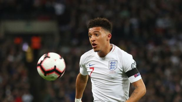 Jadon Sancho last week became the third youngest player to start a competitive international for England