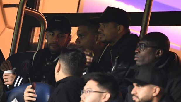Neymar was watching the game from the stands due to injury