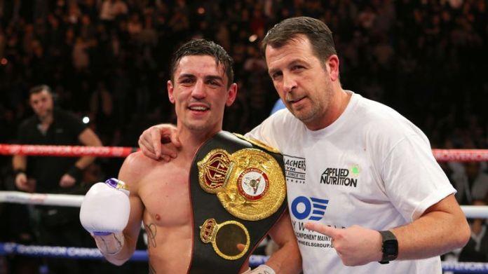 Former WBA champion Anthony Crolla and longtime coach Joe Gallagher