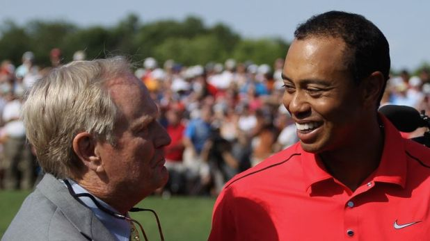 Jack Nicklaus joked he was 'shaking in my boots' after Tiger Woods' win at Augusta