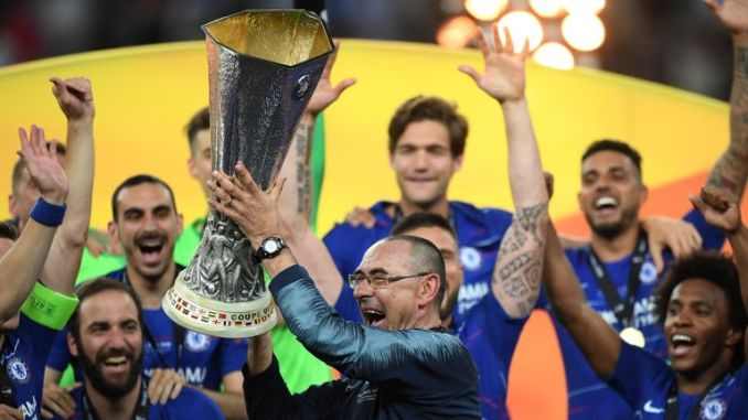 Maurizio Sarri guided Chelsea to the Europa League trophy for his first major managerial honour