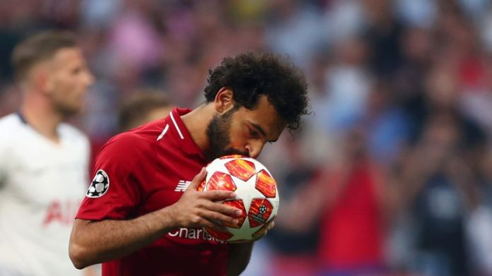 Mohamed Salah's early penalty was enough to give Liverpool a 1-0 lead at half-time