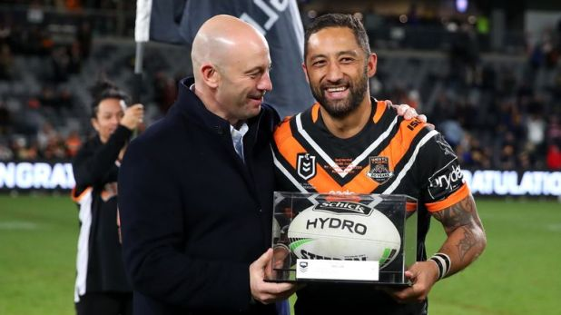 On Sunday, Benji Marshall featured in his 300th NRL game