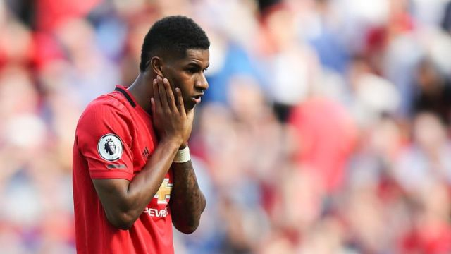 Marcus Rashford missed a penalty after an hour at Old Trafford