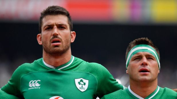 Jean Kleyn (left) has joined fellow South African-born forward CJ Stander in Ireland's Rugby World Cup squad after qualifying on residency grounds