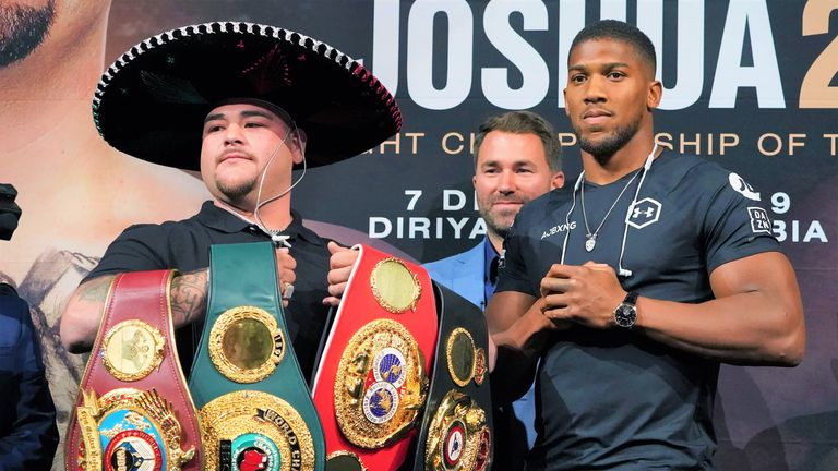 Anthony Joshua attempts to regain world titles from Andy Ruiz Jr on December 7