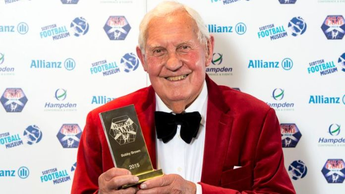 Bobby Brown was inducted into the Scottish Football Hall of Fame in 2015