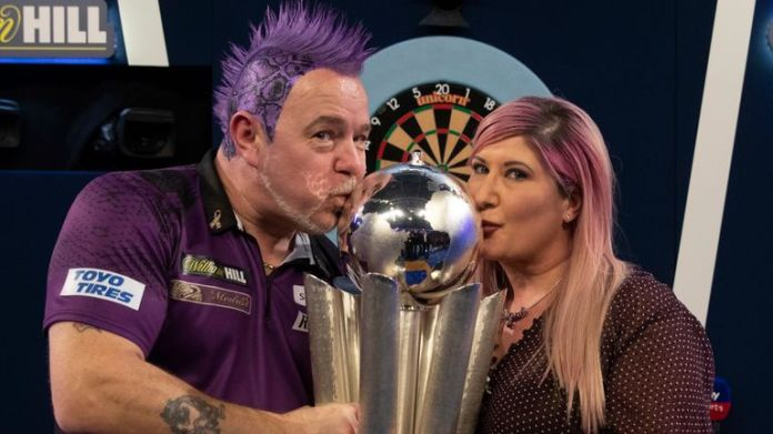 Peter Wright will defend his world title this year