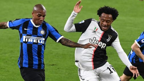 Juventus beat Inter Milan 2-0 on Sunday to solidify top spot in Serie A
