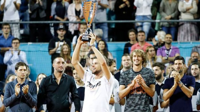 Dominic Thiem completed an undefeated weekend