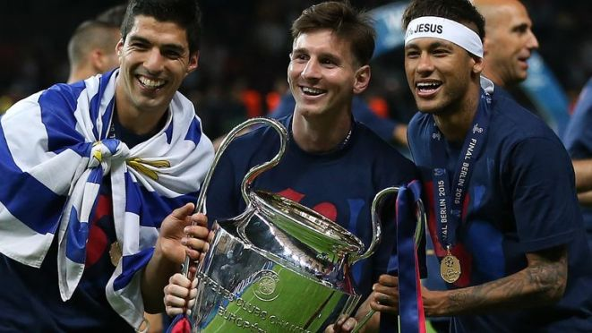 Suarez won the Champions League with Barcelona in 2015