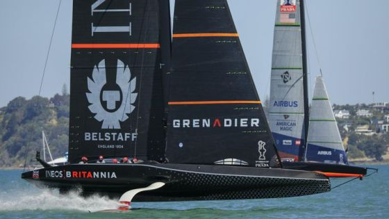 INEOS TEAM UK will race against Team Emirates New Zealand twice on day two (Image copyright: COR 36   Studio Borlenghi)