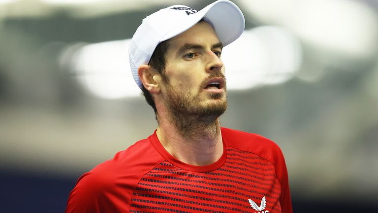 Andy Murray won his second match at the Battle of the Brits Premier League of Tennis