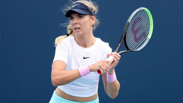Katie Boulter produced a composed display to book her place in the second round of the WTA tournament in Miami