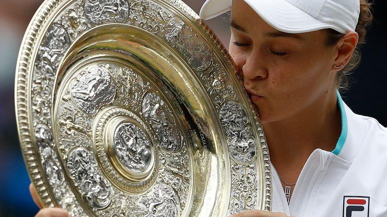 Ashleigh Barty underlined her status as women's world No 1 after winning her maiden Wimbledon title earlier this summer