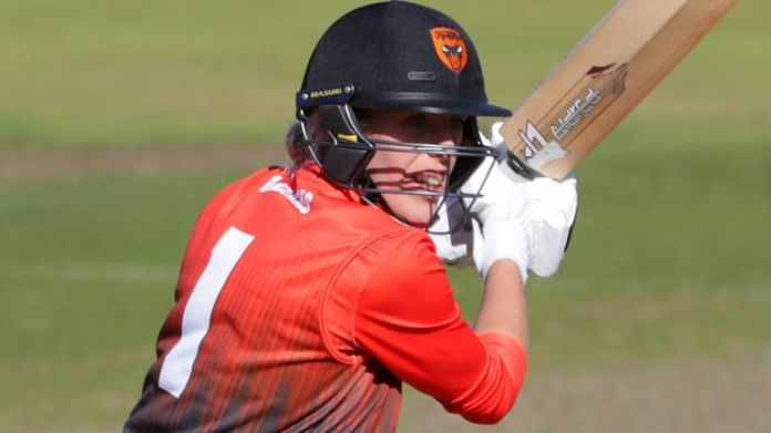 Georgia Adams, of Southern Vipers, bats in the Charlotte Edwards Cup