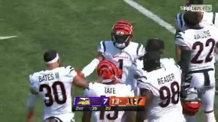 Cincinnati Bengals have moved ahead of the Vikings with a Joe Burrow 50-yard TD to Ja'Marr Chase!
