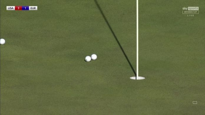 World No 1 Jon Rahm and Bryson DeChambeau both conceded their opponent's birdie putts after both firing impressive tee shots to tap-in range a the par-three 12th