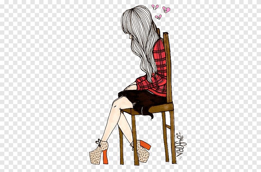 munequitas vintage femme assise sur