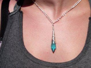Blue Dagger Pendant