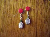 Silver branch earrings