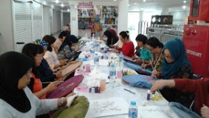fabric painting veil courses