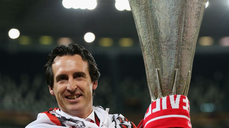 Unai Emery had an unforgettable spell at Sevilla winning the Europa Cup several times.