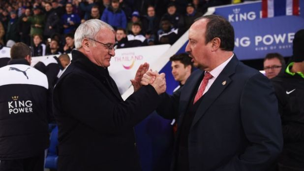 Claudio Ranieri and Rafael Benitez met 14 years ago at Valencia and are friends