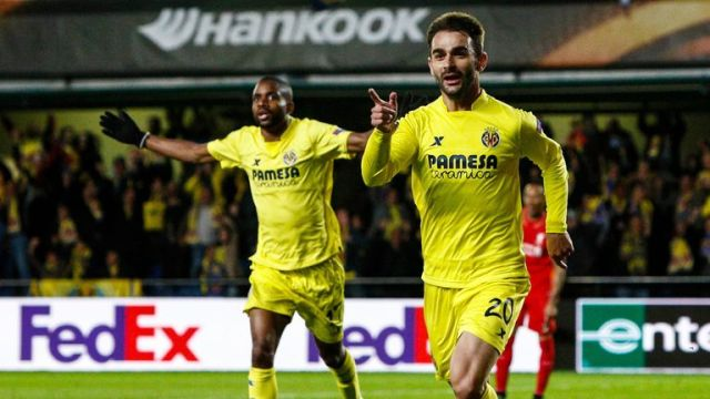 Adrian Lopez scored the winner for Villarreal in the first leg against Liverpool