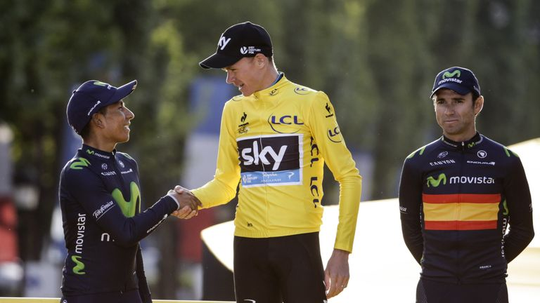 Image result for nairo quintana chris froome