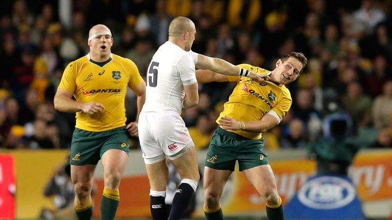 Cheika said there was evidence from England's tour of Australia in 2016 that they deliberately tackled the Wallabies' half-backs late