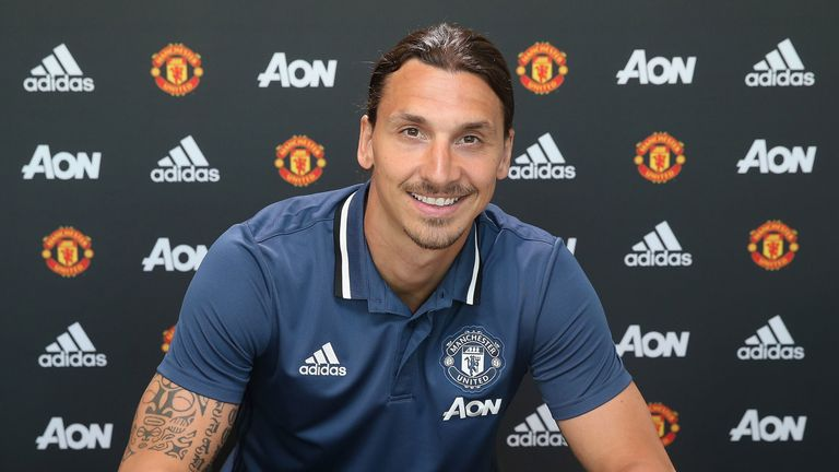 Image result for zlatan ibrahimovic sign for manchester united