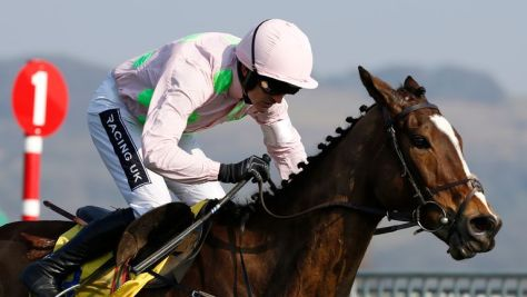 Ruby Walsh riding Vautour to victory in the Ryanair Chase