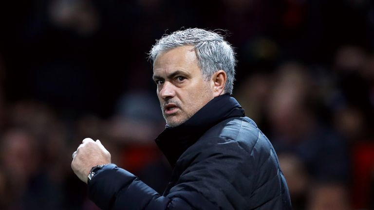 Jose Mourinho's side are five points off rivals Liverpool