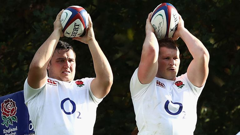 Jamie George (left) has deputised for Dylan Hartley under Eddie Jones