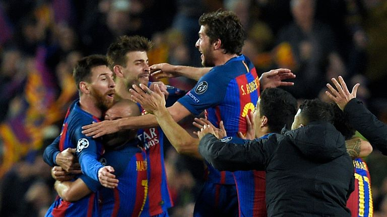 Roberto's late goal sparked wild celebrations at the final whistle
