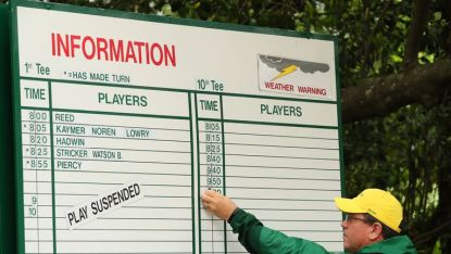 The course at Augusta was evacuated due to a tornado warning
